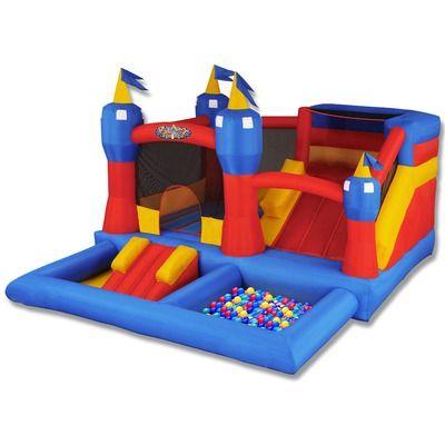 Blast Zone Misty Kingdom Bounce House  549.99  13w x 14l x 9h  500 lbs  7 x 9 Bouncing area