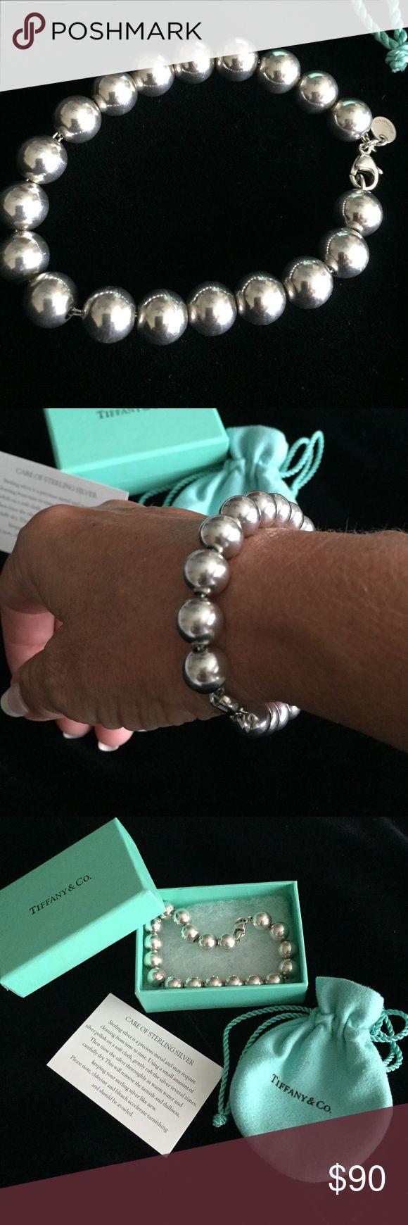 """Tiffany Bead Bracelet Sterling Tiffany 10mm Bead Bracelet.  Great condition.  It's the longer 8.25"""" length. Tiffany & Co. Jewelry Bracelets"""