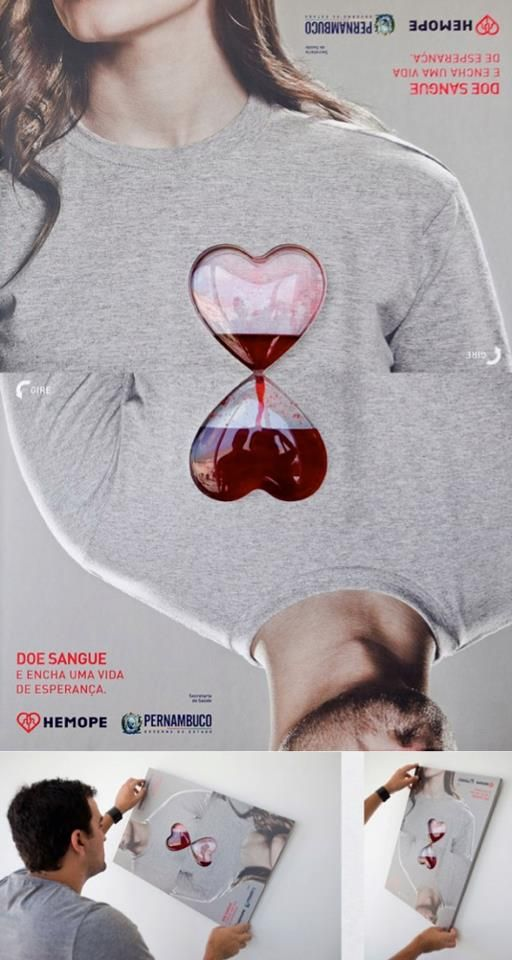 Dona sangre | #ads #marketing #creative #werbung #print #poster #advertising #campaign #Print #publicidad gráfica. Entre en el fantástico mundo de elcafeatomico.com para descubrir muchas más cosas! #advertising