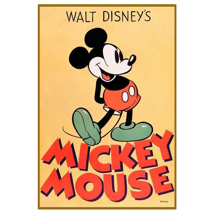 Disney Mickey Mouse Pose Wood Wall Art 13x19 Mickey Mouse Art Disney Posters Mickey