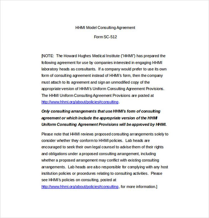 266 best agreement template images on Pinterest What to do - consulting agreement examples