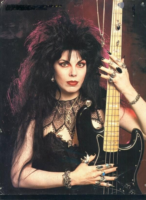 Patricia Morrison: Only she could have that puffy 80's hairdo and retain her title as goth queen.