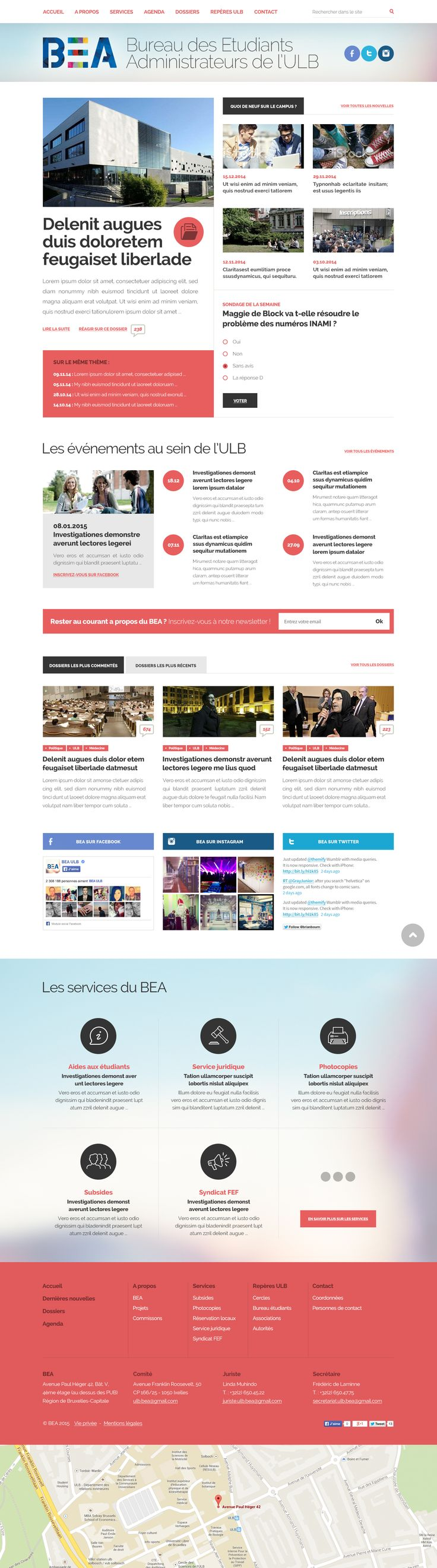BEA Website #graphicdesign #webdesign #design #website #layout #responsive #uidesign #uxdesign #responsive #mirko #typography #mobileapplication #creativedesign MIRKO *L* Graphic Designer in Brussels - www.cerasuolo.org/