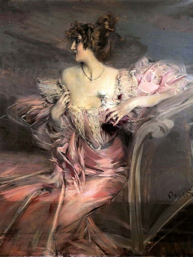 Giovanni Boldini's painting of Madame de Florian's grandmother. Sold at auction for three million dollars.