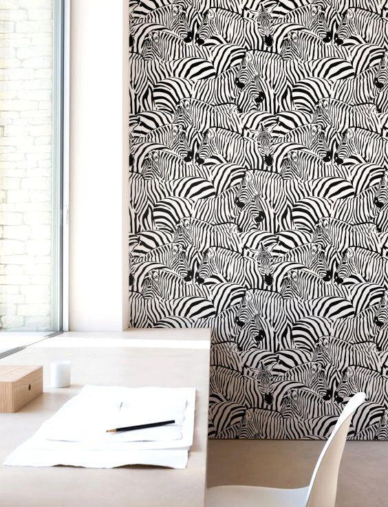 Zebra Print Wallpaper Removable By Jumanjii On Etsy