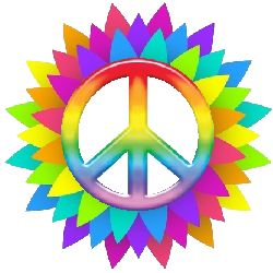 rainbow peace flower points                                                                                                                                                                                 More