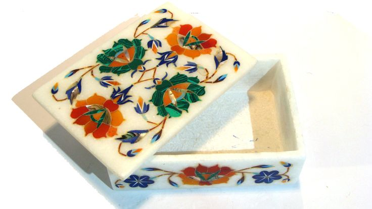 Marble Inlay Box With Fine Work