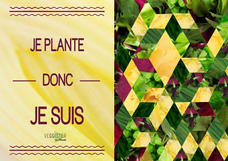 Je plante donc je suis  #Veggister #Florette #Salade #Hipster #Lifestyle #Citation #Quote