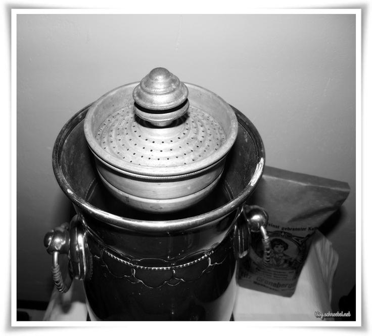 Historische AEG Kaffeemaschine  Detailansicht, 1920er Jahre