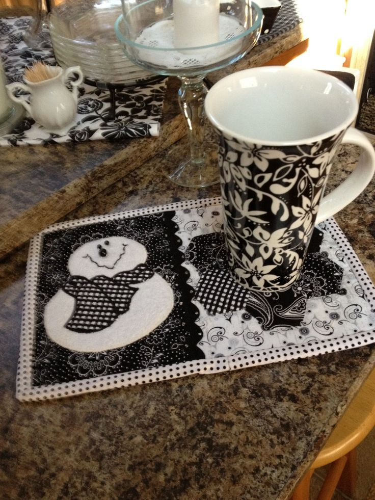 """Cutest """"Winter-January"""" Mug Rug - could not find on her link"""