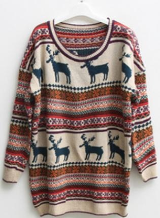 Enlarge  You have recently viewed:  Hollow out Pretty Striped Brown Sweater S001673  $43.00  Christmas Deer Round Neck Long Sleeved SweaterS000406, Sweater, Christmas Deer Round Neck Long Sleeved, Chic