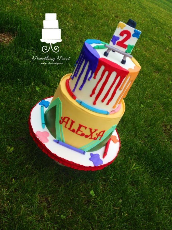 Crayon art cake