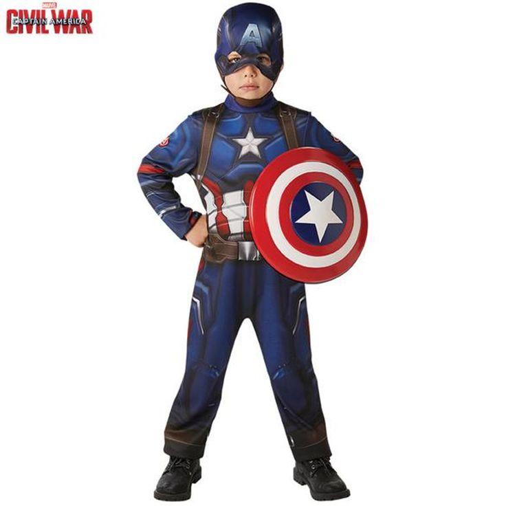 Disfraz de Capitán América para niño, ideal para realizar un bonito regalo o para tus fiestas de Carnaval.