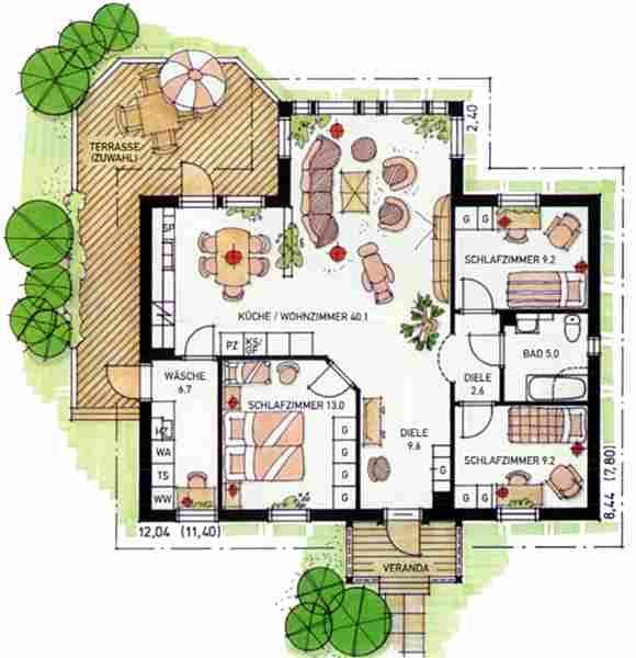Villa grundriss 2 stöckig  Die besten 25+ Bungalow bauen Ideen auf Pinterest | Bungalow Haus ...