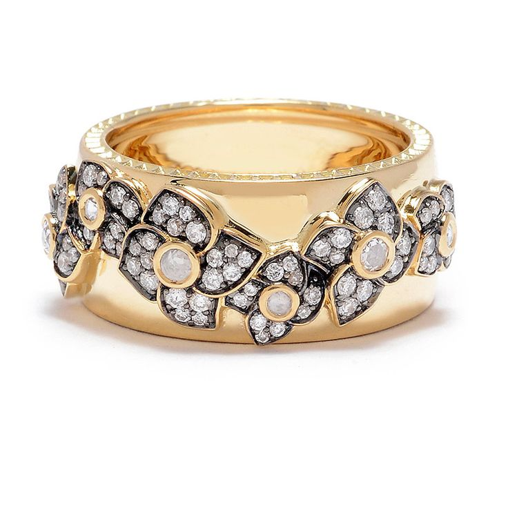 Sorellina Hail Storm Floral Diamond Ring