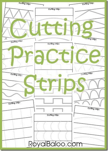 Atelier de découpage. L'élève se pratique à découper sur les lignes et fait don de ses découpes à un atelier de bricolage.