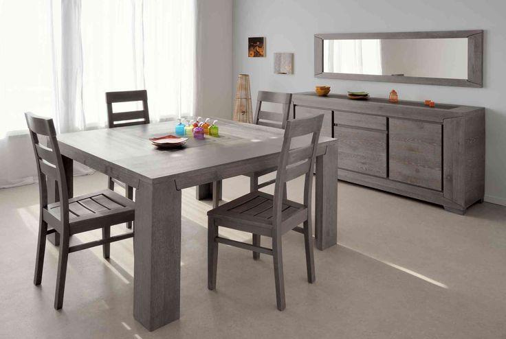 Table de salle à manger carrée Chypre II - Table à manger contemporaine moins cher - MATELPRO