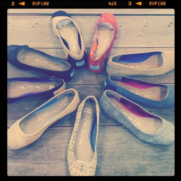 SWEEET. Now maybe ill wear them! Shut. Up....TOMS ballet slippers. Spring 2012