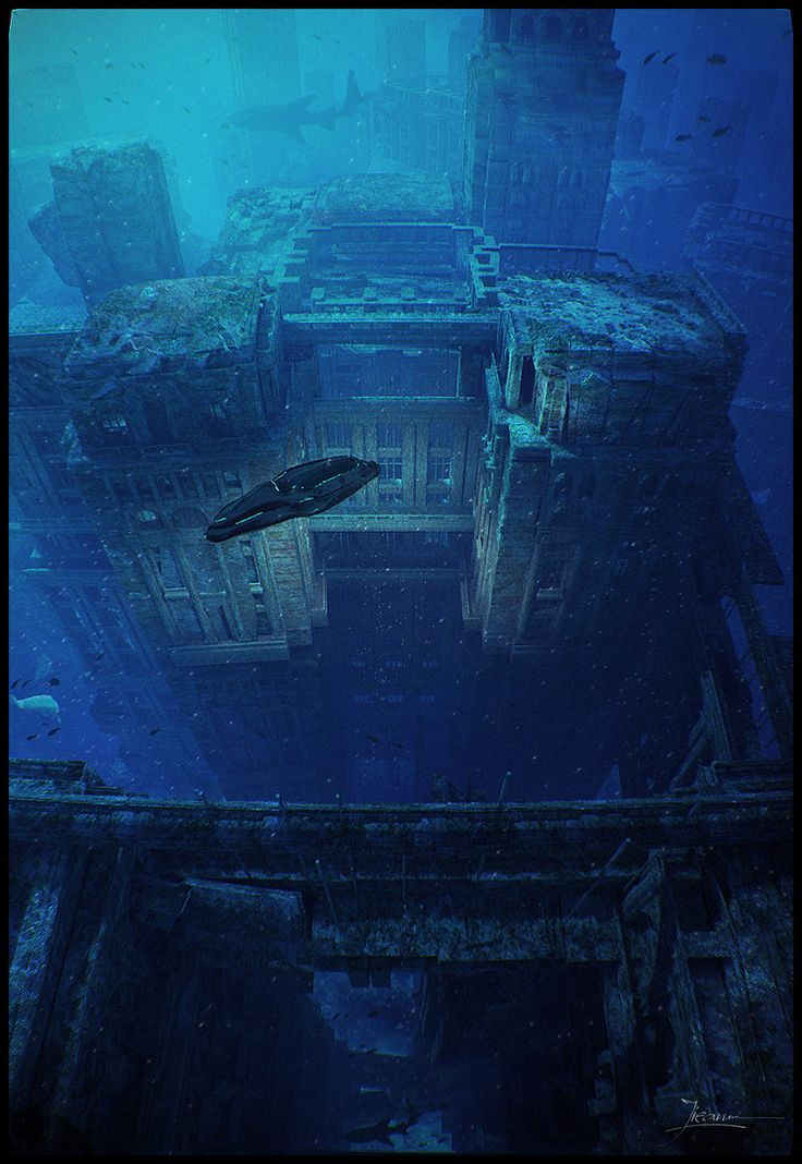 Real Underwater Ruins 57 best images about M...