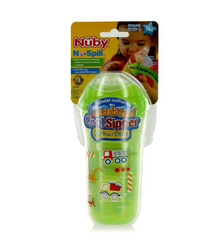 Nuby Step 4: Insulated 9oz Cool Sipper Cup (18m+) - This cup will keep your liquids cool and fresh.