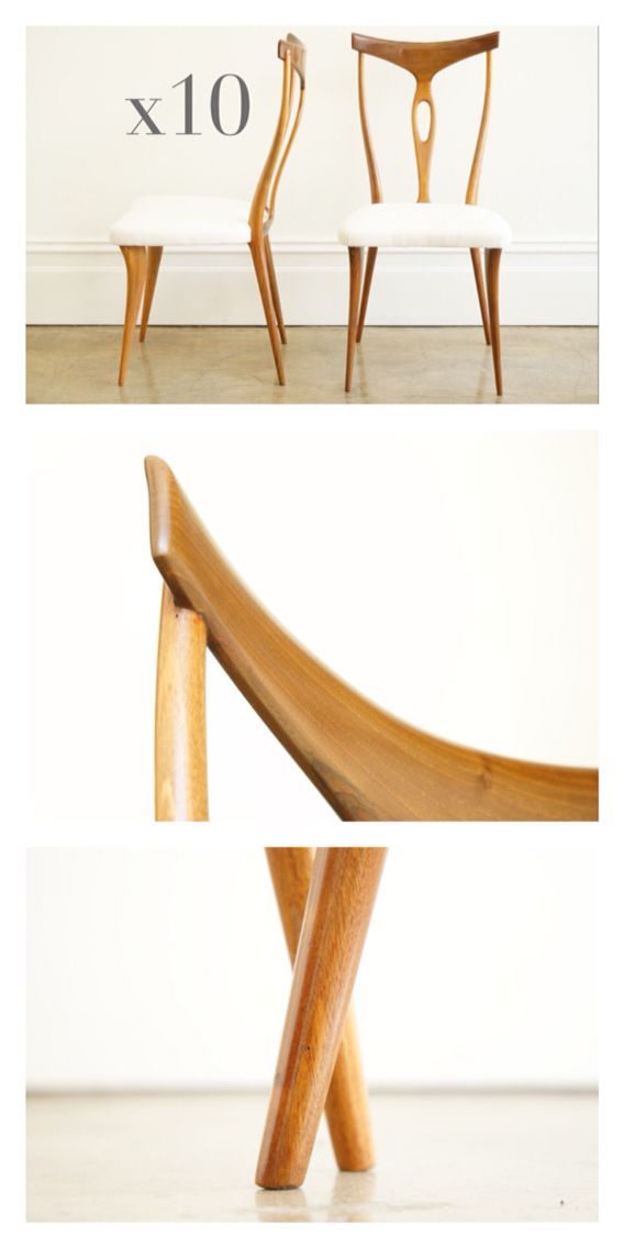 Delightful Guglielmo Ulrich Rosewood Dining Chairs (10 Of), C.1950.