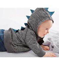 Ragazzi dinosauro per bambini felpe con cappuccio felpa ragazzi ragazze di autunno della molla capretti del cappotto manicotto lungo casuale outwear vestiti del bambino(China (Mainland))