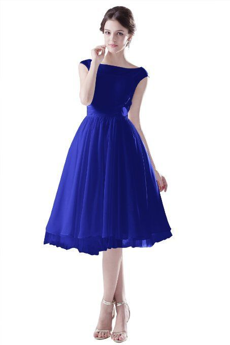 Amazon.com: Dresstells Short Royal Blue Bridesmaid Evening Dress For Girls US Size 6 Royal Blue: Clothing