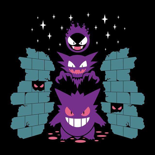 """Lavender Tower"" by TravisPixels is $10 today at ShirtPunch.com (10/17). #tshirt #Pokemon #Gastly #Gengar #Haunter #LavenderTown #GhostType"