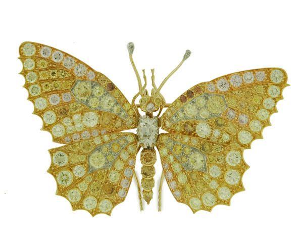 Vintage Tiffany Butterfly Jewelry   Asprey & Co. Butterfly Brooch brought $21,500 at Antique Helper's ...