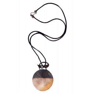 Collar colgante cobre tejido plateado Milena Zu www.sanci.es