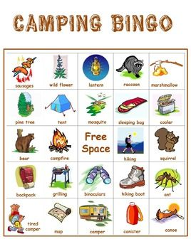 The 25 Best Camping Bingo Ideas On Pinterest