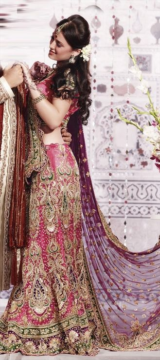 Pink and Green Indian Dress| Keyword : ethnic tourism in india, cultural tourism in india,religious  tours india,historical tourism in india