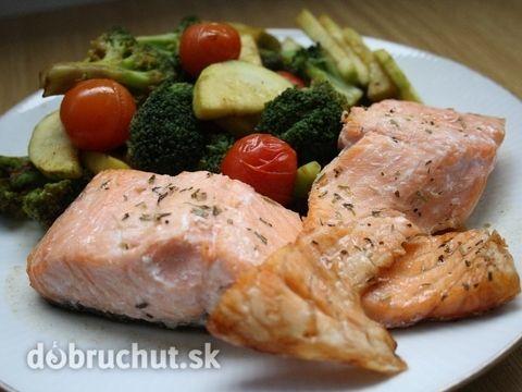 Fotorecept: Pečený losos -  Pripravíme si suroviny..  Zeleninu si