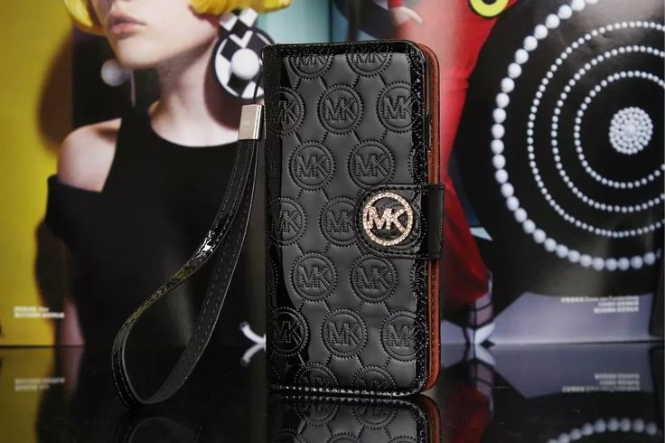 Michael Kors iPhone 7 Case Wallet MK Bling Vernis Cover Black