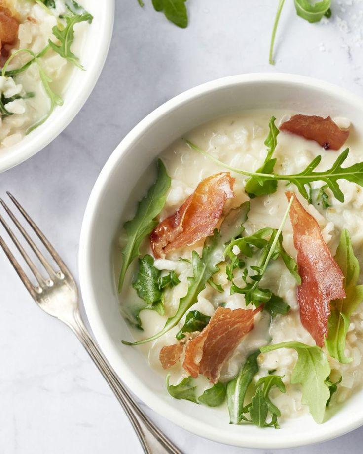 Dit moet één van onze favoriete risotto's zijn! De subtiele anijssmaak van de venkel contrasteert goed met de zoute en crunchy gedroogde ham.