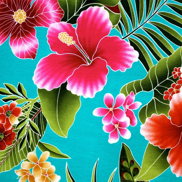 Beautiful, bright, vibrant Hawaiian flowers make this fabric a must have! You may not know how to do the Hula, but that doesnt mean you cant