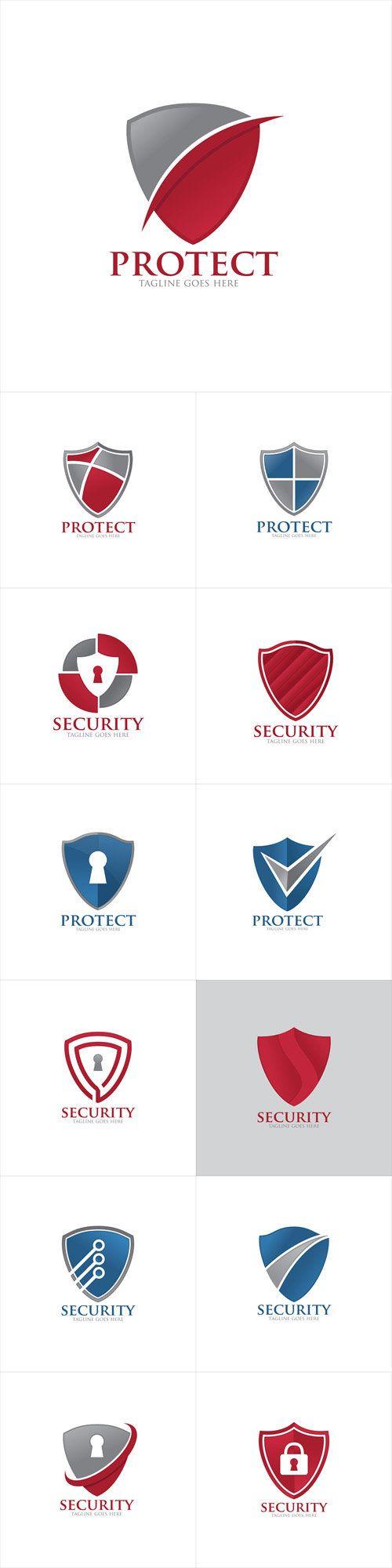 Vectors - Shield Protection Security Logo Icon