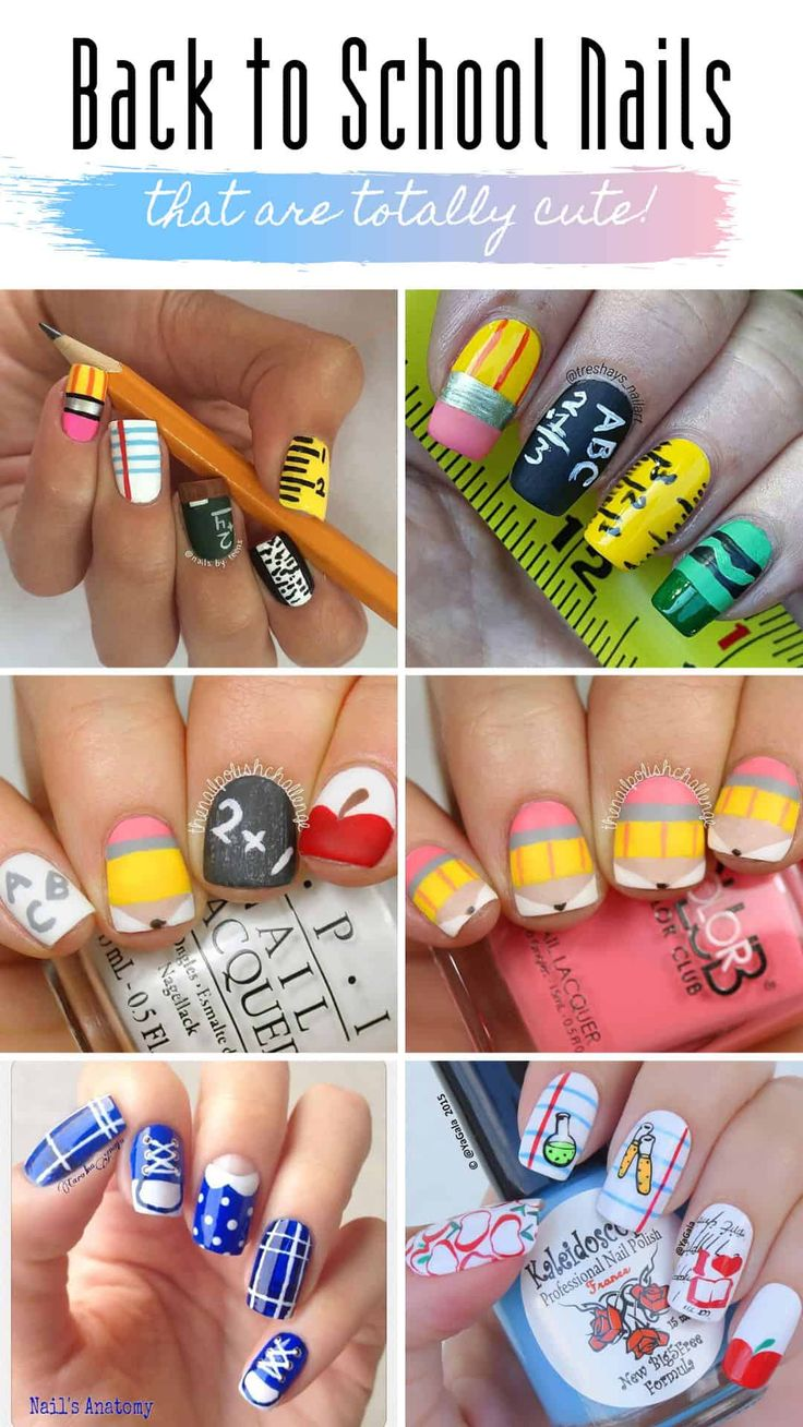 46 Cute Back to School Nail Ideas to Make You Stand Out in