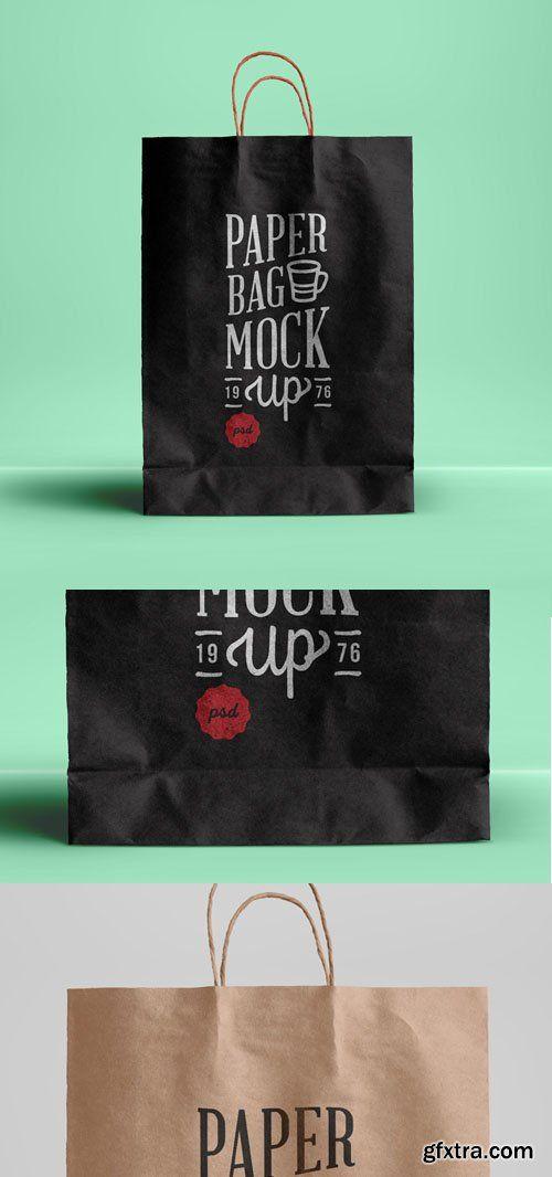 PSD Paper Bag Mockup Template