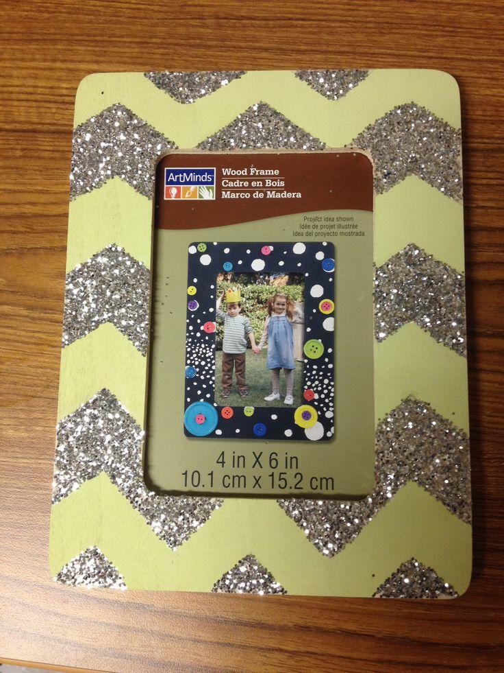Chevron glitter picture frame #sorority #craft #frame