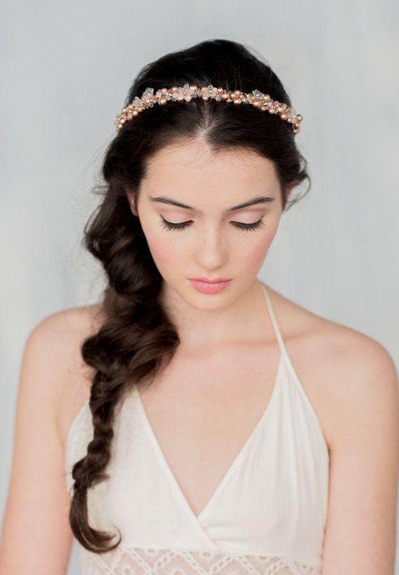 SOFIA Rose Gold Crown Headpiece by: Blair Nadeau Millinery Photography: Whitney Heard Photography  Hair/Makeup: Maya Goldenberg