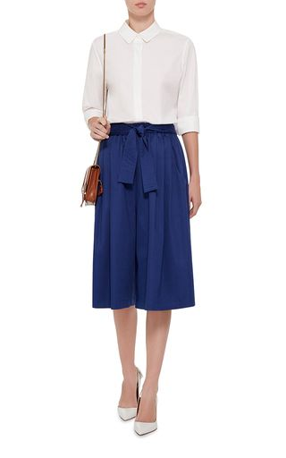 Blue Cotton Sateen Cropped Karate Pants by TOME Now Available on Moda Operandi