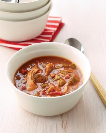 chicken gumbo: Chicken, Stew, Soups, Andouille Sausage, Authentic Louisiana, Louisiana Gumbo, Healthy Recipes, Healthy Food, Andouille Gumbo