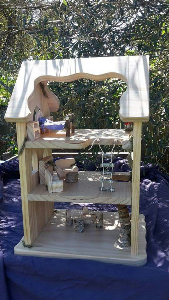 Fairy house, Gnome Home, dollhouse furniture.  handmade by Nature Toys