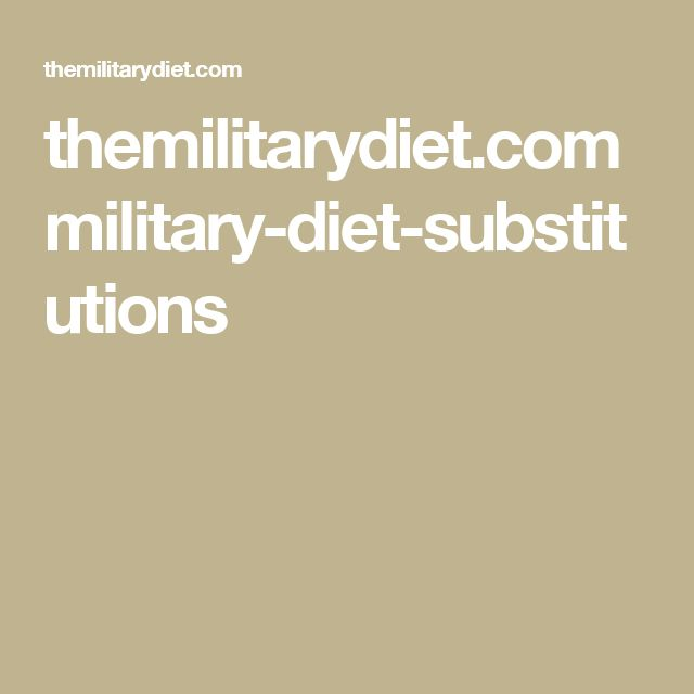 Military Diet: Meal Plan, Potential Benefits & Risks