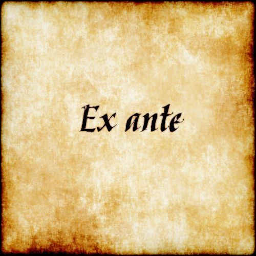 Ex ante - From before #latin #phrase #quote #quotes - Follow us at facebook.com/LatinQuotesPhrases