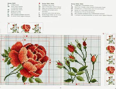 Schemi a punto croce gratuiti per tutti: Schema punto croce- rose di ogni tipo e genere per ogni applicazione