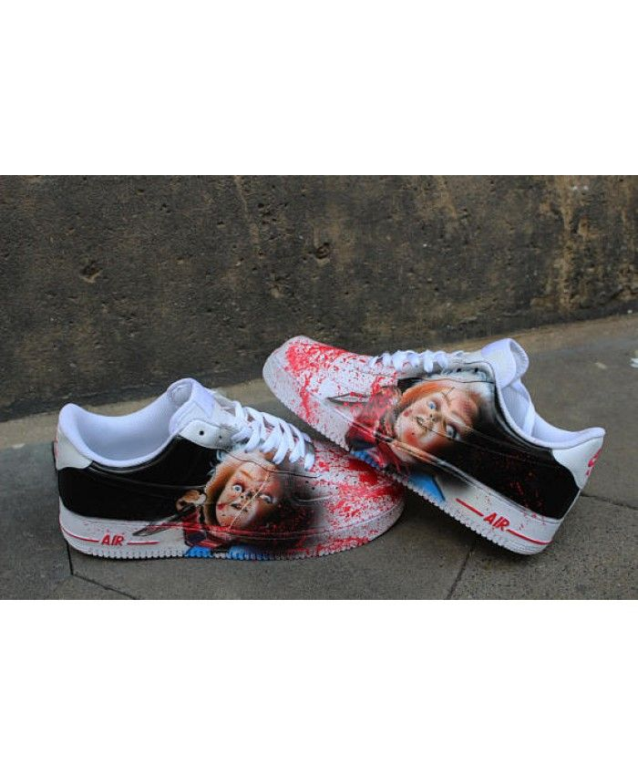2662ed0d9618 Custom Nike Air Force One Chucky Handpainted Sneaker Horror Shoes Wholesale
