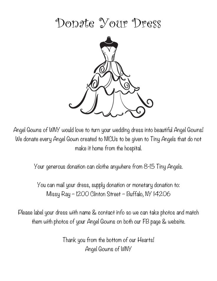 Spectacular Angel Gowns of WNY