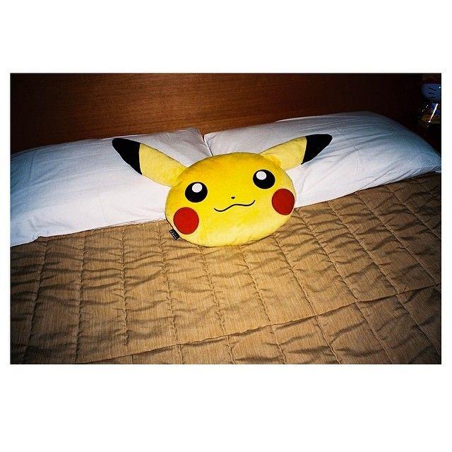 """@pulpmatter's photo: """"pikachu pillow #pulpmatter"""" #35mm #analogue #film"""